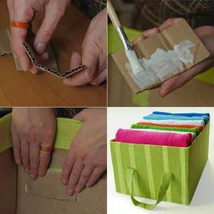 Технология оклеивания коробки