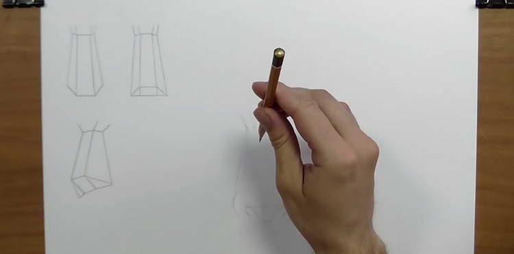 как нарисовать нос поэтапно